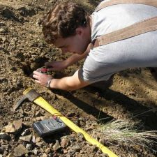 Self Potential or SP surveys are used with induced polarisation (I.P.) and resistivity surveys in mineral exploration and geophysics.